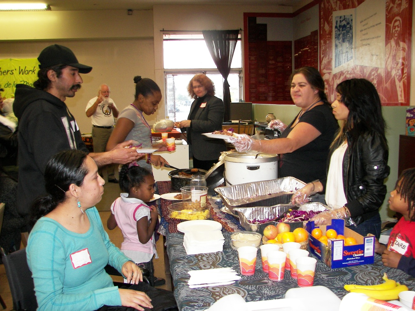 Lunch donated by South Central Farmers & SOL cooperatives, and Alexandria House